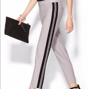 Vince Straight Leg Wool race stripe Dress Pants, 8